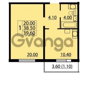 Продается квартира 1-ком 39.6 м² Маршала Блюхера 12АЭ, метро Лесная