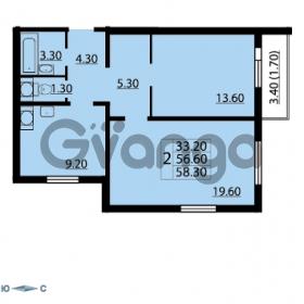 Продается квартира 2-ком 58.3 м² Маршала Блюхера 12АЭ, метро Лесная