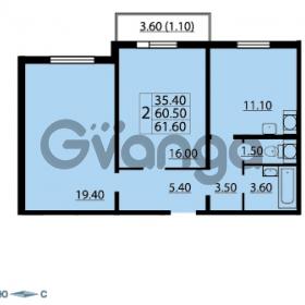 Продается квартира 2-ком 61.6 м² Маршала Блюхера 12АЭ, метро Лесная