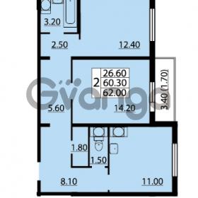 Продается квартира 2-ком 62 м² Маршала Блюхера 12АЭ, метро Лесная
