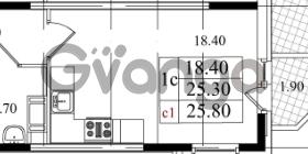 Продается квартира 1-ком 25.3 м² Бестужевская улица 5к 1, метро Лесная