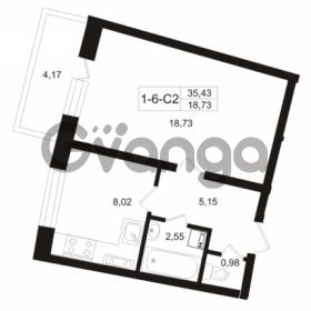 Продается квартира 1-ком 35.43 м² Пугаревская улица 1, метро Ладожская