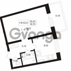 Продается квартира 1-ком 35.44 м² Пугаревская улица 1, метро Ладожская