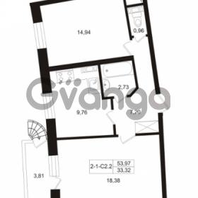 Продается квартира 2-ком 53.97 м² Пугаревская улица 1, метро Ладожская