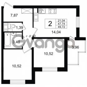 Продается квартира 2-ком 47.74 м² Европейский проспект 14, метро Улица Дыбенко