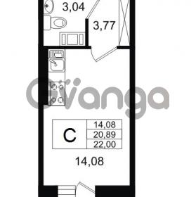 Продается квартира 1-ком 20.89 м² Европейский проспект 14, метро Улица Дыбенко