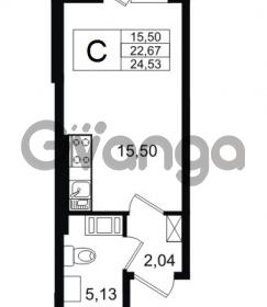 Продается квартира 1-ком 22.67 м² Европейский проспект 14, метро Улица Дыбенко