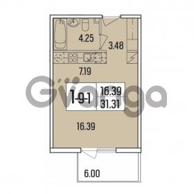 Продается квартира 1-ком 31.31 м² набережная Обводного канала 108, метро Фрунзенская