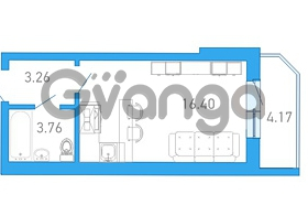 Продается квартира 1-ком 25.5 м² бульвар Александра Грина 1, метро Приморская