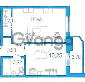 Продается квартира 1-ком 37.42 м² бульвар Александра Грина 1, метро Приморская