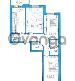 Продается квартира 3-ком 89.99 м² бульвар Александра Грина 1, метро Приморская