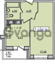 Продается квартира 1-ком 36.36 м² Новая улица 6, метро Девяткино
