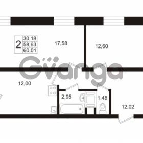 Продается квартира 2-ком 60.04 м² Европейский проспект 1, метро Улица Дыбенко