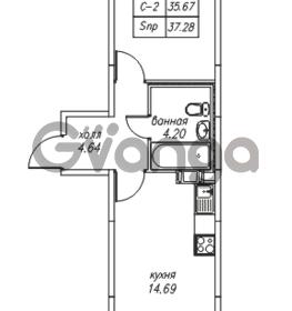 Продается квартира 1-ком 37.4 м² Юнтоловский проспект 53к 4, метро Старая деревня