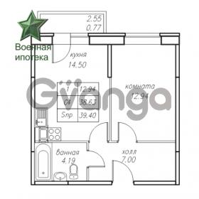 Продается квартира 1-ком 39.42 м² Юнтоловский проспект 53к 4, метро Старая деревня