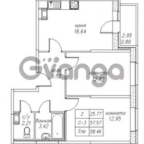 Продается квартира 2-ком 58.46 м² Юнтоловский проспект 53к 4, метро Старая деревня