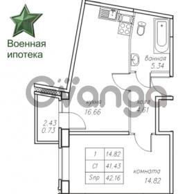 Продается квартира 1-ком 42.18 м² Юнтоловский проспект 53к 4, метро Старая деревня