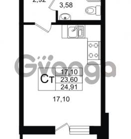 Продается квартира 1-ком 23.6 м² улица Шувалова 1, метро Девяткино