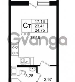 Продается квартира 1-ком 23.41 м² улица Шувалова 1, метро Девяткино