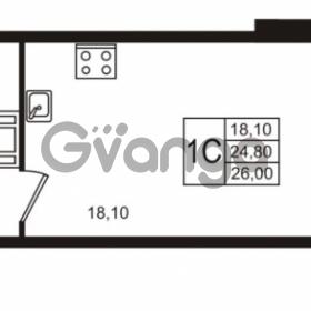 Продается квартира 1-ком 24.81 м² Бестужевская улица 5к 1, метро Лесная