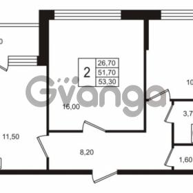 Продается квартира 2-ком 51.71 м² Бестужевская улица 5к 1, метро Лесная