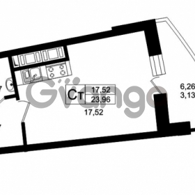 Продается квартира 1-ком 27.09 м² Оборонная улица 26, метро Девяткино