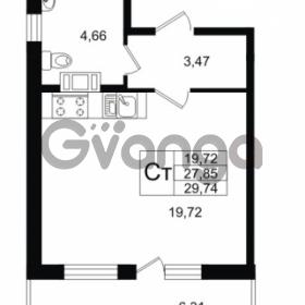 Продается квартира 1-ком 27.87 м² улица Шувалова 1, метро Девяткино