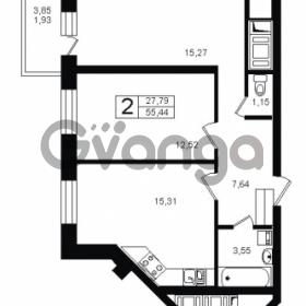 Продается квартира 2-ком 57.37 м² Оборонная улица 26, метро Девяткино