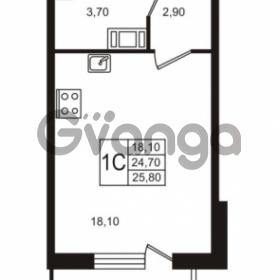 Продается квартира 1-ком 24.71 м² Бестужевская улица 5к 1, метро Лесная
