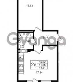 Продается квартира 1-ком 41.55 м² улица Шувалова 1, метро Девяткино