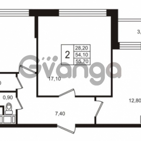 Продается квартира 2-ком 54.11 м² Бестужевская улица 5к 1, метро Лесная