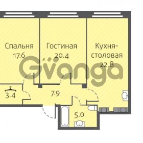 Продается квартира 2-ком 74.4 м² улица Кременчугская 13к А, метро Площадь Восстания