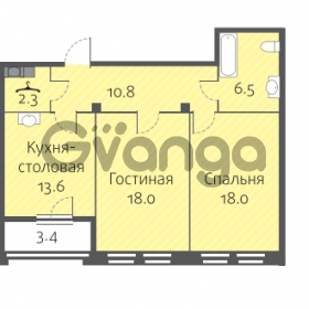 Продается квартира 2-ком 69.2 м² улица Кременчугская 13к А, метро Площадь Восстания