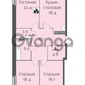 Продается квартира 3-ком 106.2 м² улица Кременчугская 13к А, метро Площадь Восстания