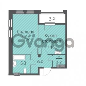 Продается квартира 1-ком 46.3 м² улица Кременчугская 13к А, метро Площадь Восстания