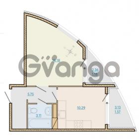 Продается квартира 1-ком 38.08 м² Таможенная дорога 1, метро Старая деревня