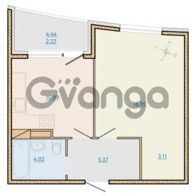 Продается квартира 1-ком 42.8 м² Таможенная дорога 1, метро Старая деревня
