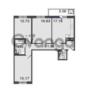Продается квартира 3-ком 80.1 м² Петровский проспект 20, метро Чкаловская