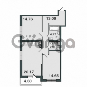 Продается квартира 2-ком 69.2 м² Петровский проспект 20, метро Чкаловская