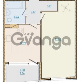 Продается квартира 1-ком 46.43 м² Таможенная дорога 1, метро Старая деревня