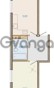 Продается квартира 1-ком 45.79 м² Таможенная дорога 1, метро Старая деревня