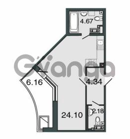 Продается квартира 1-ком 35.3 м² Петровский проспект 20, метро Чкаловская