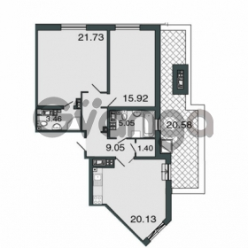 Продается квартира 2-ком 79.7 м² Петровский проспект 20, метро Чкаловская