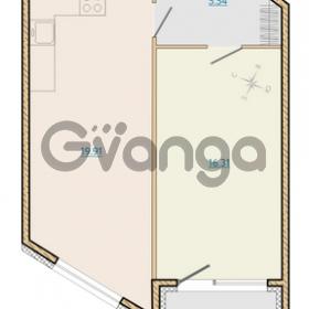 Продается квартира 1-ком 48.79 м² Таможенная дорога 1, метро Старая деревня