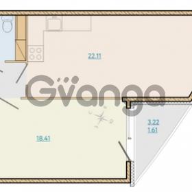 Продается квартира 1-ком 49.89 м² Таможенная дорога 1, метро Старая деревня