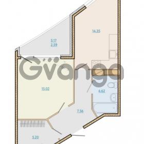 Продается квартира 1-ком 50.41 м² Таможенная дорога 1, метро Старая деревня