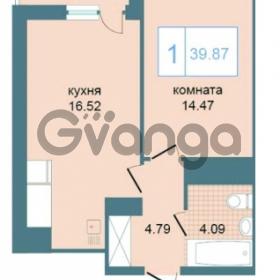 Продается квартира 1-ком 39.87 м² Дунайский проспект 7, метро Звёздная