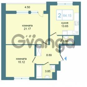 Продается квартира 2-ком 64.15 м² Дунайский проспект 7, метро Звёздная