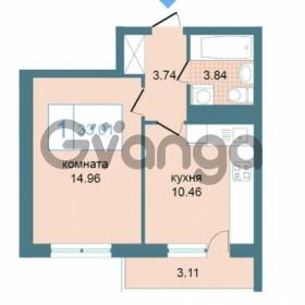 Продается квартира 1-ком 33.01 м² Дунайский проспект 7, метро Звёздная