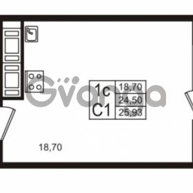 Продается квартира 1-ком 24.5 м² проспект Строителей 1, метро Улица Дыбенко